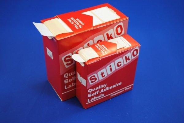 White Peelable Labels