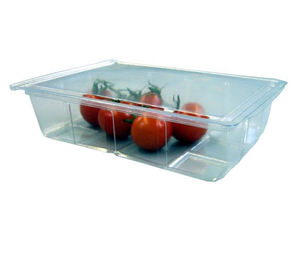 750cc Clear Salad Box with Hinged Lid
