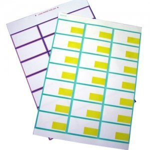 Shelf Edge A4 sheets, perforated into 21 labels that slot into most shelving, for clear pricing.