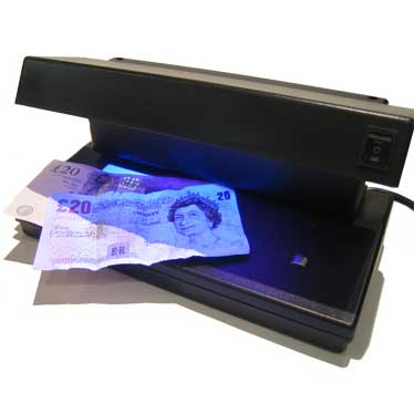 UV Lamp Counterfeit Note Detector